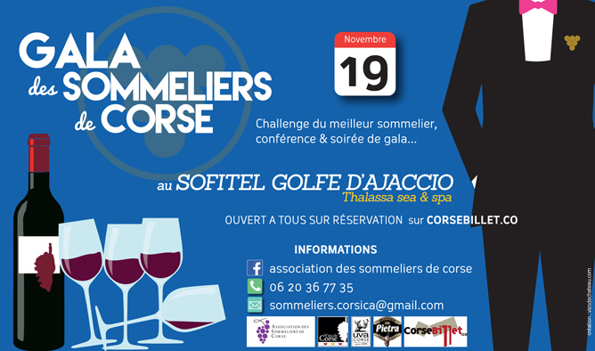 Gala des Sommeliers de CORSE Novembre 2016
