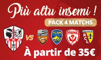 Pack 4 match ACA