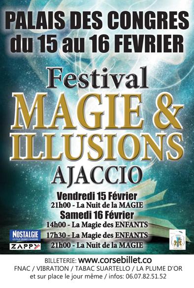 Festival de magie et grandes llusions d'ajaccio fevrier 2019