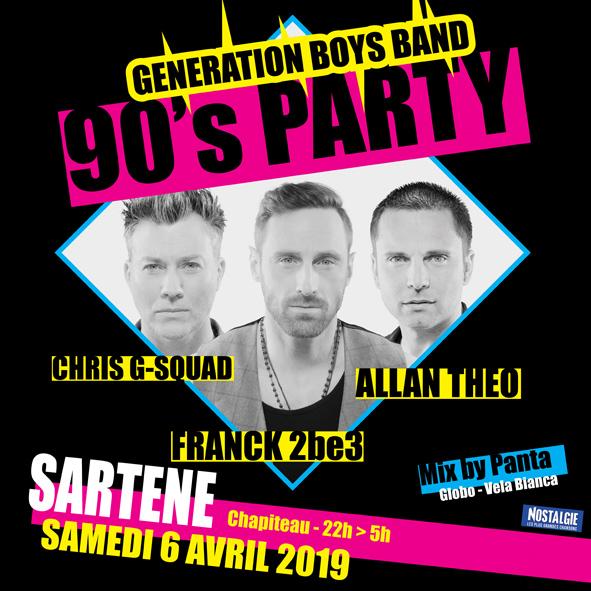 90's party - les boys band en live