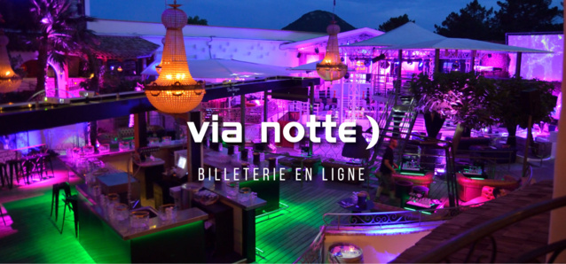 Discothèque Via Notte Summer 2019 Juillet