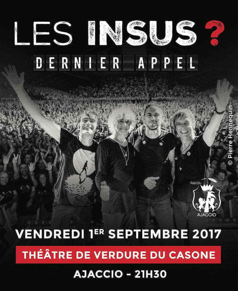 Les Insus en concert à AJACCIO septembre 2017