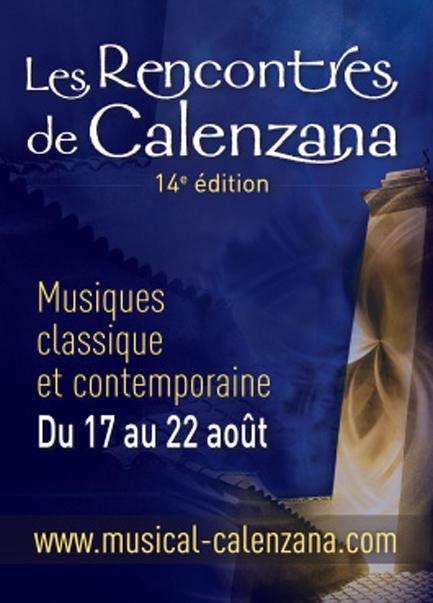 Rencontres Musicales de CALENZANA 14° Edition Aout 2014
