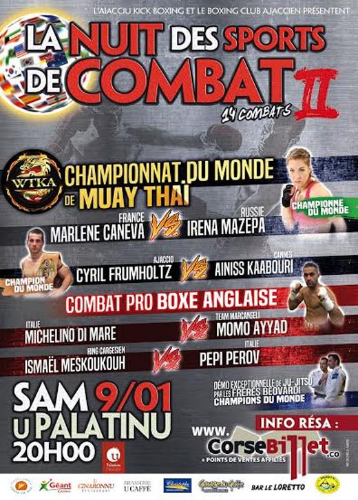 La Nuit des sports de combat Round 2 JANVIER 2016